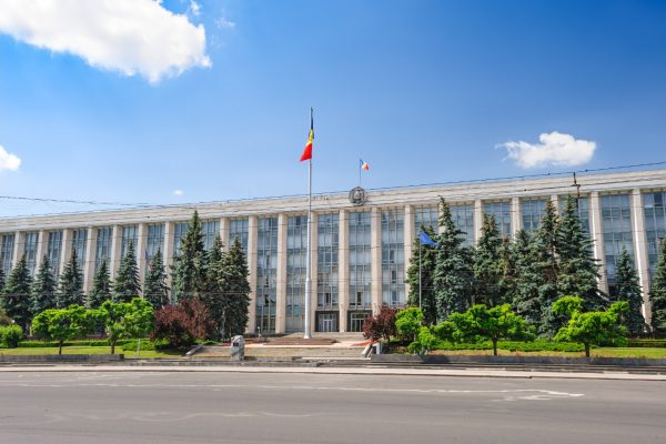 Government building in Chisinau, Moldova