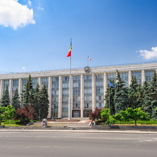 Government building in Chisinau, Moldova
